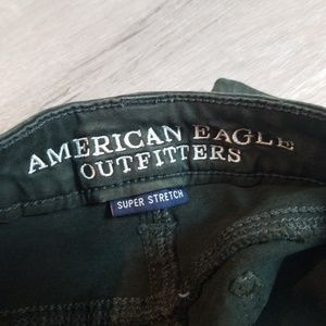 American Eagle Outfitters Jeans - American Eagle AEO Sateen olive green jegging 2